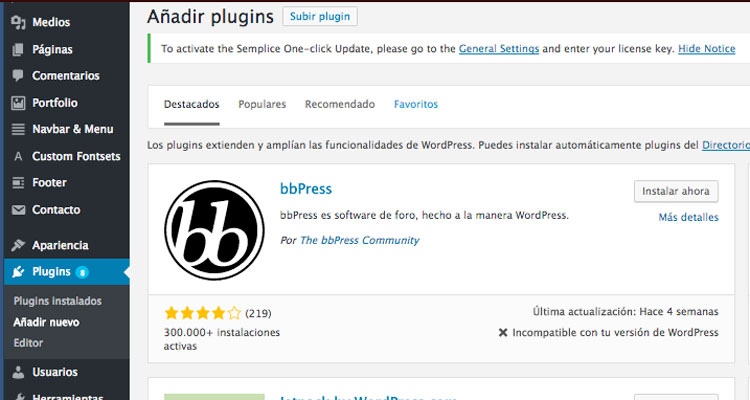 como anadir plugins wordpress